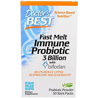 Doctors Best, Fast Melt, Immune Probiotic with Bifodan, 30 Stick Packets