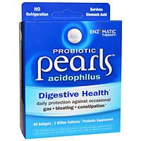 Enzymatic Therapy, Пробиотик Pearls Acidophilus, 90 желатиновых капсул