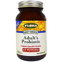Flora, Udos Choice, пробиотик для взрослых, 60 капсул