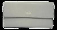 Стильный женский клатч Devid Jones серого цвета KLK-220661