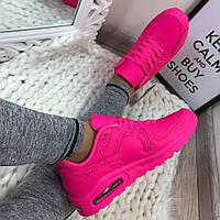 Кроссовки реплика Nike Air Max эко-кожа, розовые , Nike Air Force розовые  женские