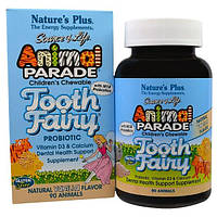 Natures Plus, Source of Life, Animal Parade, Tooth Fairy, Детские жевательные таблетки, натуральный вкус ванили, 90 таблеток в форме животных