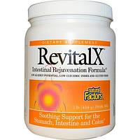 Natural Factors, Пищевая добавка RevitalX, формула омоложения кишечника, смесь для приготовления напитка, 1 фунт (454 г)