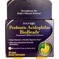 Natrol, Ацидофильный пробиотик БиоГранулы, 30 гранул