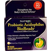 Natrol, Ацидофильный пробиотик в биогранулах, 90 гранул