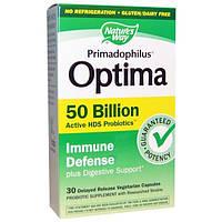 Natures Way, Примадофилус оптима, иммунная защита, 30 вегетарианских капсул