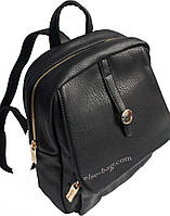 Черный женский рюкзак с пуговицей, фото 1