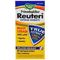 Natures Way, Primadophilus Reuteri, улучшенный пробиотик, 90 Veggie Caps