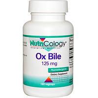 Nutricology, Желчь крупного рогатого скота, 125 мг, 180 растительных капсул