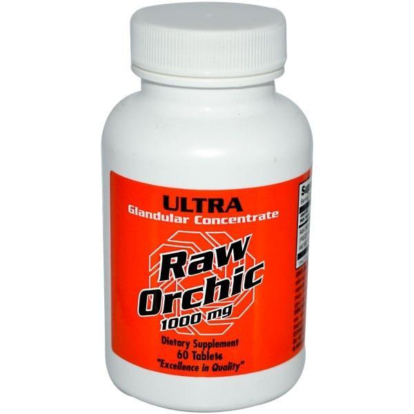 Ultra Glandular Enterprises, Пищевая добавка Raw Orchic, 1000 мг, 60 таблеток