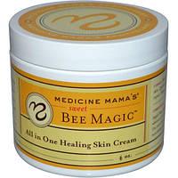 Medicine Mamas, Сладкая магия пчел, все в одном, крем для залечивания кожи, 4 унции