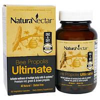 NaturaNectar, Пчелиный прополис Ultimate, 60 вегетарианских капсул