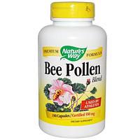 Natures Way, Пчелиная пыльца, смесь, 180 капсул