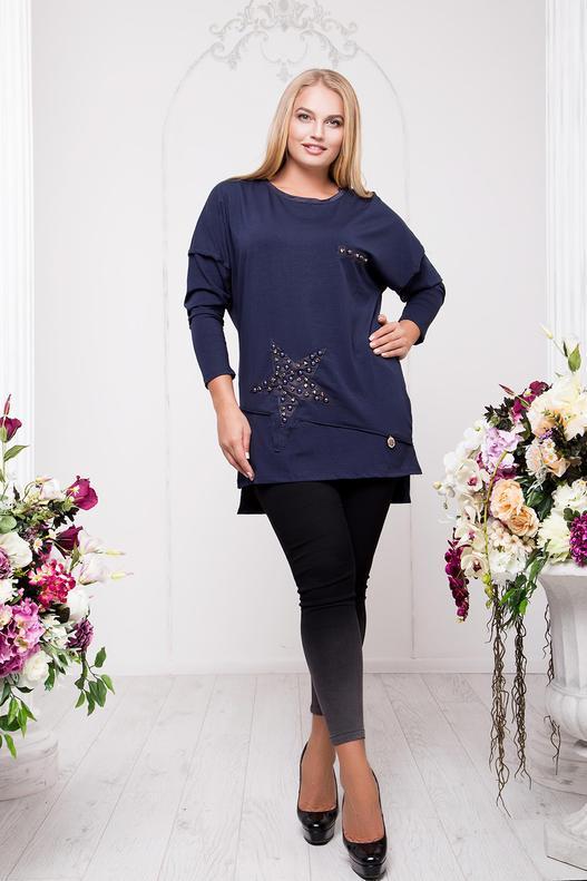 Женский пуловер больших размеров 54, 56