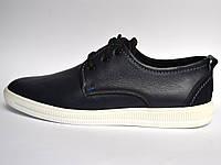 Кожаные кроссовки мужские слипоны Rosso Avangard OrigSlipy Black&White черные.