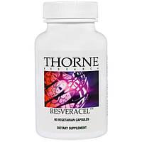 Thorne Research, Ресвератрол, 60 вегетарианских капсул