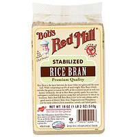 Bobs Red Mill, Стабилизированные рисовые отруби, 18 унций (510 г)
