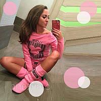 Комплект одежды для дома : Пайта  Шорты  Сапожки  D  77217 Розовый