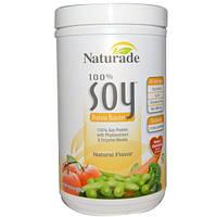 Naturade, Соевый протеин 100% с натуральным ароматизатором, 14,8 унций (420 г)