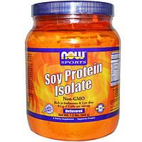 Now Foods, Спорт, Изолят соевого протеина, без вкуса, 1.2 фунтов (544 г)