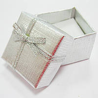 Коробка подарочная для бижутерии, 4х4 см, серебро