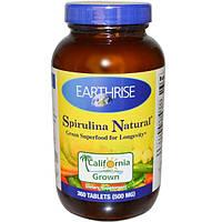 Earthrise, Спирулина натуральная, 500 мг, 360 таблеток