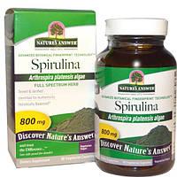 Natures Answer, Спирулина, 90 капсул в растительной оболочке