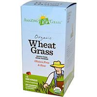 Amazing Grass, Органическая трава пшеницы, полезный сухой напиток, 15 отдельных пакетов, 8 г каждый