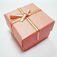 Коробка подарочная под кольцо, 4х4 см, розовая
