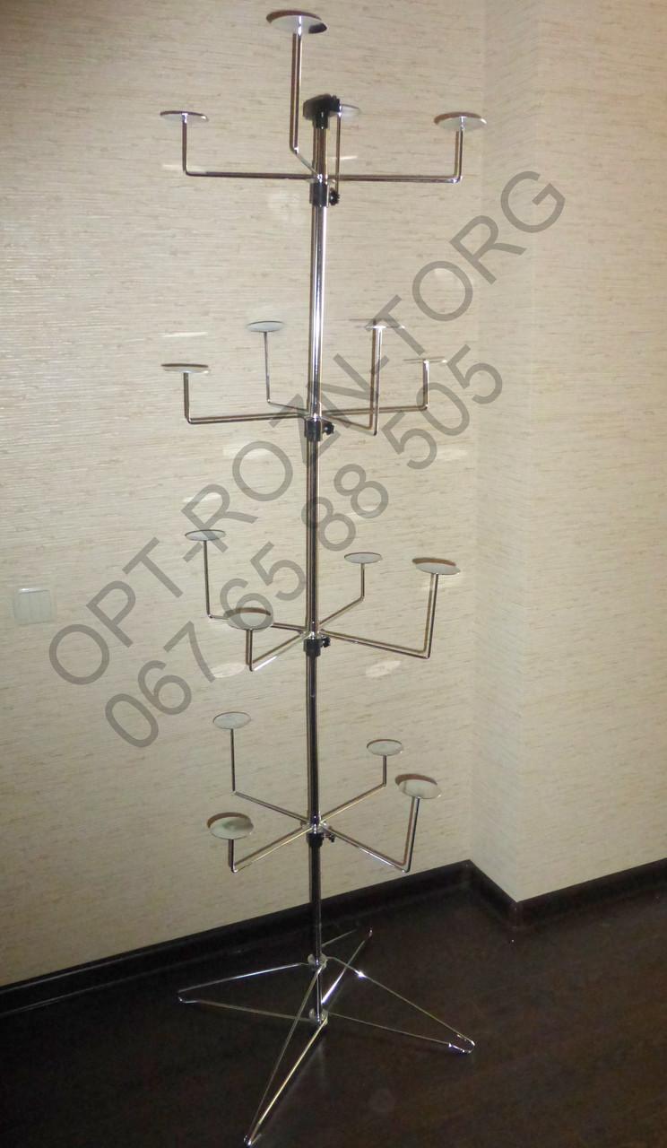 Стойка-вешалка под головные уборы 1.70м.
