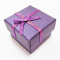 Коробка подарочная для бижутерии, 4х4 см, фиолетовая