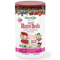 Macrolife Naturals, Макро красные - ягоды, особо питательный ягодный продукт для детей, фрукты и ягоды, 95 г (3,3 унции)