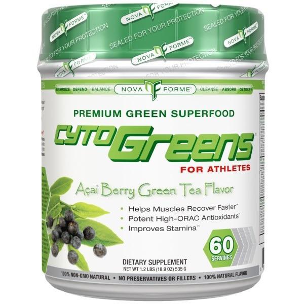 NovaForme, CytoGreens, Acai Berry Green Tea Flavor, 18.9 oz (535 g) - Интернет-магазин для здоровой жизни в Киеве