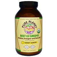 Pure Planet, Best of Greens со вкусом cладкого лимона, 158 г
