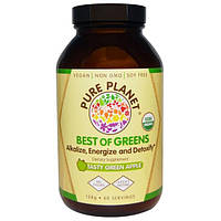 Pure Planet, Best of Greens, со вкусом ароматного зеленого яблока, 158 мг
