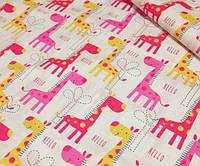 Детское постельное белье Малиновый жираф (100% хлопок)
