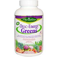 Paradise Herbs, Зеленая пища Энергия ORAC, 120 капсул на растительной основе
