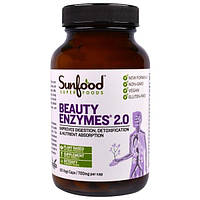 Sunfood, Ферменты красоты 2.0, 700 мг, 90 растительных капсул