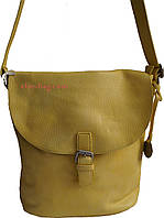 Женская сумка через плечо желтая