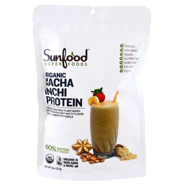 Sunfood, Порошок Сача Інчі з високим вмістом білка, 227 г