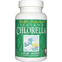 Source Naturals, Хлорелла с островов Яэяма, 200 мг, 600 таблеток