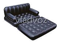 Надувная кровать диван трансформер с насосом 5в1 bestway 75056 193 х 152 х 64 см.