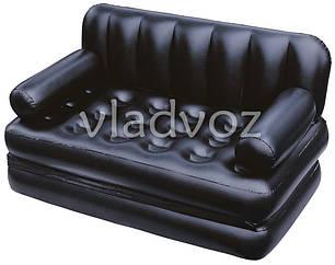 Надувная кровать диван трансформер с насосом 5в1 bestway 75056 188х152х64см, фото 2