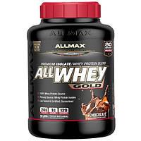 ALLMAX Nutrition, Смесь из изолята сывороточного протеина с шоколадным вкусом AllWhey Gold Premium, 2,27 кг (5 фунтов)