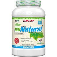 ALLMAX Nutrition, Изонатурал, изолят сывороточного протеина, натуральный, без добавок, 2 фунта (907 г)