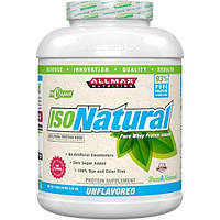 ALLMAX Nutrition, IsoNatural, Pure Whey Protein Isolate, The Original, Unflavored, 79 oz (2.25 kg)