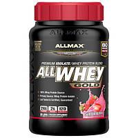 ALLMAX Nutrition, AllWhey Gold, премиум-изолят/смесь сывороточного протеина, клубника, 2 фунта (907 г)