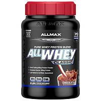ALLMAX Nutrition, AllWhey Classic, Белковая Смесь с Изолятом Сывороточного Протеина, Шоколад, 2 фунта, ( 907 г)