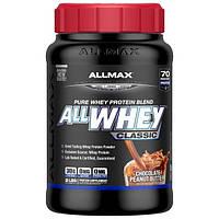 ALLMAX Nutrition, AllWhey Classic, Белковая Смесь с Изолятом Сывороточного Протеина, Шоколадное Арахисовое Масло, 2 фунта (907 г)