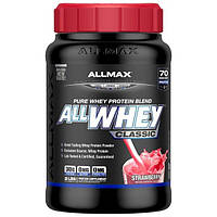 ALLMAX Nutrition, AllWhey Classic, Белковая Смесь с Изолятом Сывороточного Протеина, Малина, 2 фунта ( 907 г)